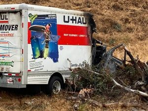 Carmichael Woman Dies After Fiery U-Haul Crash